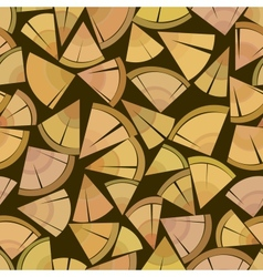 firewood seamless background vector image vector image
