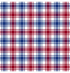Red blue white check texture seamless pattern vector image