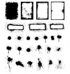 splattered ink and grunge frame vector image