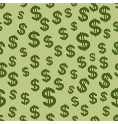 US Dollar pattern vector image vector image