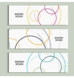 abstract circle set vector image vector image