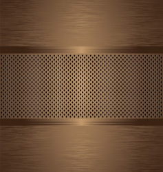 gratted bronze brushed vector image vector image