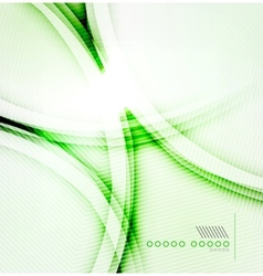 green shadow wave abstract background vector image