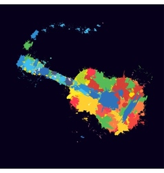 Guitar splash vector image vector image
