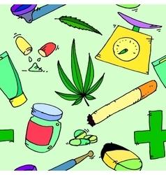 Medical marijuana pattern vector image vector image
