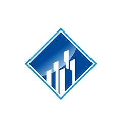 modern building cityscape business logo vector image vector image