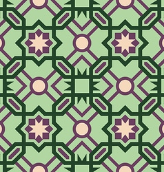 Mosaic tile pattern with abstract green design vector image vector image