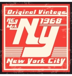 New york vintage stamp vector
