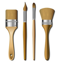 Painting brush set vector image vector image