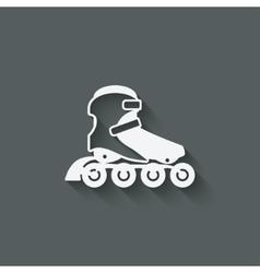 roller skate symbol vector image vector image