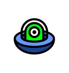 ufo alien cartoon icon vector image