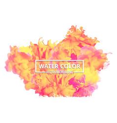 abstract watercolor splash multi-color watercolor vector image