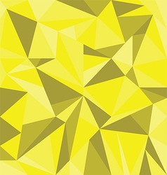 Abstract Yellow Triangle Geometrical Background vector image vector image