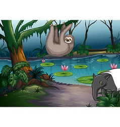 Animals and pond vector image vector image