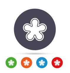 Asterisk footnote sign icon star symbol vector