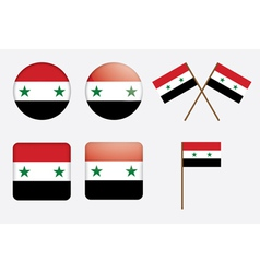 badges with flag of Syria vector image