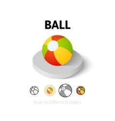 Ball icon in different style vector image