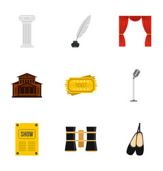 ballet icons set flat style vector image
