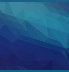 blue polygonal background triangular pattern low vector image