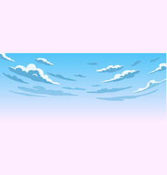 blue sky with white clouds clear sunny day vector image
