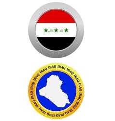 Button as a symbol IRAQ vector