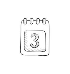 Calendar sketch icon vector