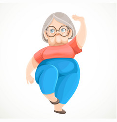 cartoon character retired grandmother doing vector image