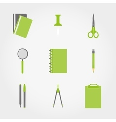 Chancellory Office supplies vector image