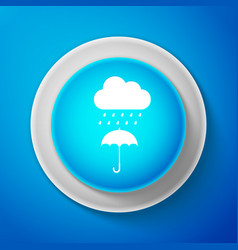 cloud with rain drop on umbrella icon isolated vector image