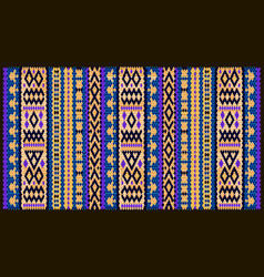 colorful mosaic oriental kilim rug with vector image
