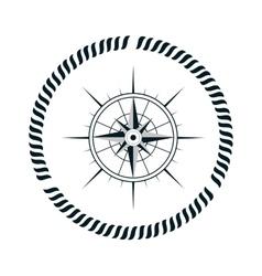 Compass maritime emblem icon vector