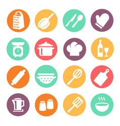 cooking icon set kitchen tools equipment vector image