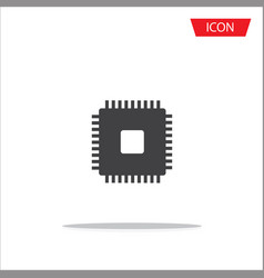 cpu icon isolated on white background vector image