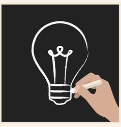 creating ideas on chalk board vector image