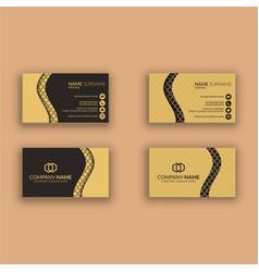 Creative modern business card template vector