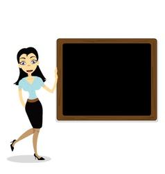 Cute teacher vector