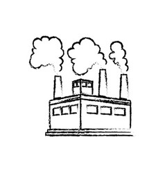 Factory or industry building symbol vector