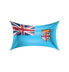 fiji flag on a white vector image