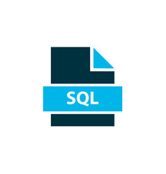file sql icon colored symbol premium quality vector image