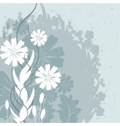 Flowers and Leaves Design vector image