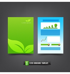 Flyer Brochure background templated 021 Ecology vector image
