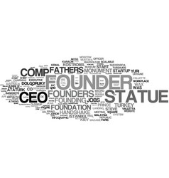 Founder word cloud concept vector