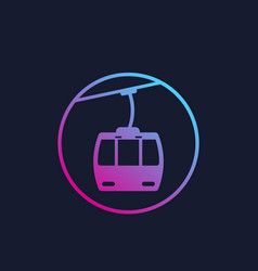 Funicular icon vector