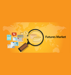 Futures market trading stock exchange concept vector