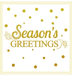 Gold seasons greetings card design vector