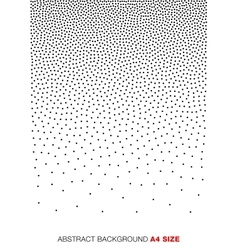 Gradient Halftone Dots Background A4 size vector image