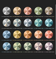 Gradients set template metallic texture radial vector