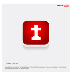halloween grave cross icon vector image