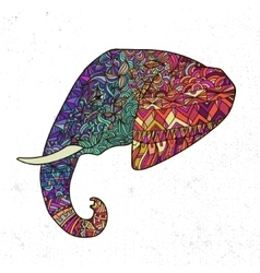 Hand drawn elephant ornate vector