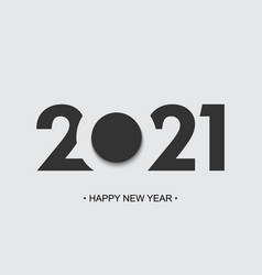 happy new year 2021 cut paper background brochure vector image